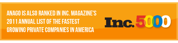 Ranked in Inc 5000's fastest growing private companies in 2011