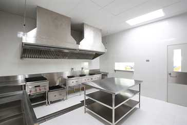 cleaning a commercial kitchen